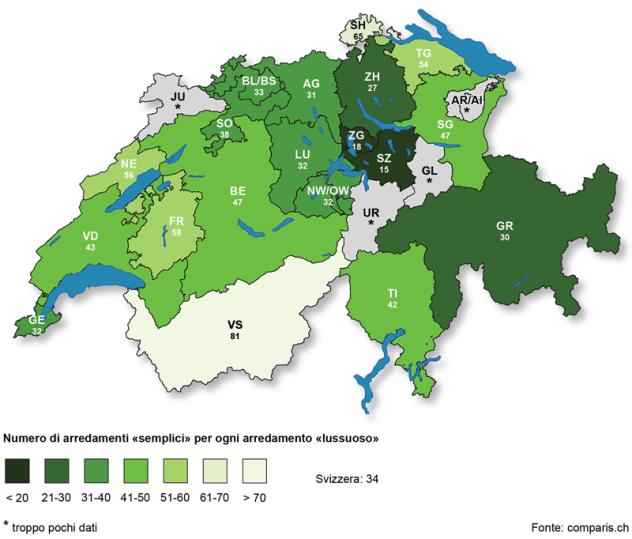 Svizzera Cartina Geografica Cantoni.Nel Cantone Svitto Si Abita Con Lusso